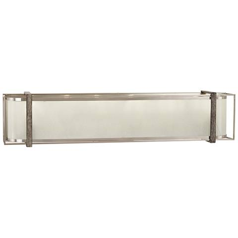 "Tyson's Gate 32""W Brushed Nickel with Shale Wood Bath Light"