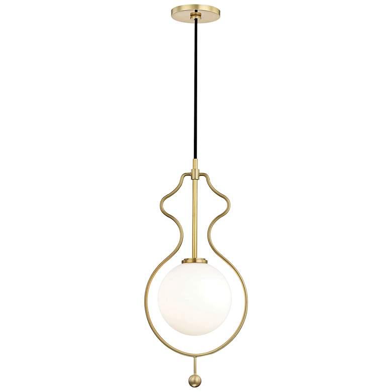 "Mitzi Abigail 9 3/4"" Wide Aged Brass LED Mini Pendant"