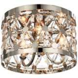 "Maxim Cassiopeia 14""W Polished Nickel 3-Light Ceiling Light"