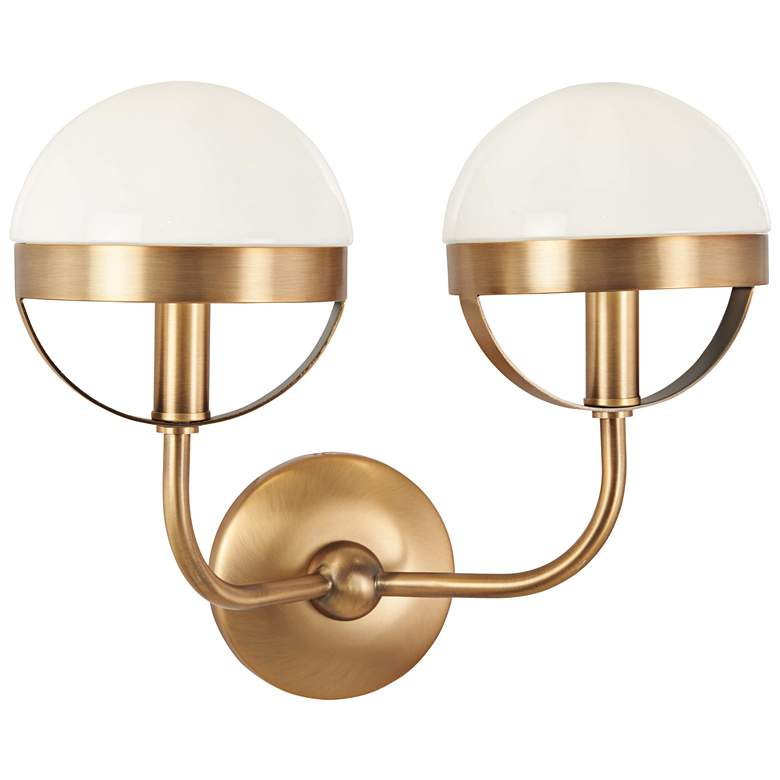 """Tannehill 12"""" High Aged Brass 2-Light Wall Sconce - #47G72 ... on Aged Brass Wall Sconce id=28053"""