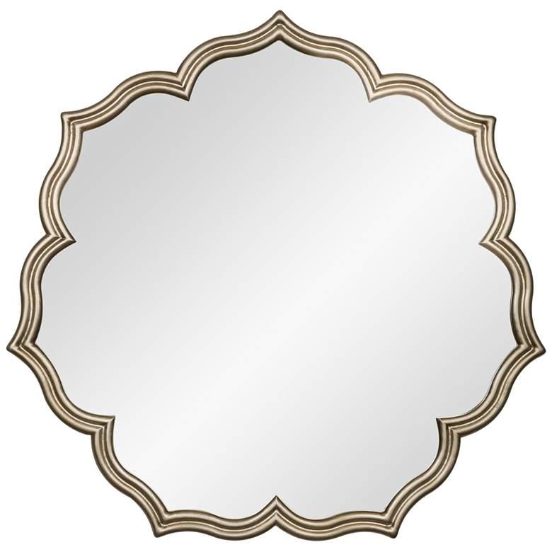 """Cooper Classics Raina Champagne 36"""" Round Wall Mirror"""