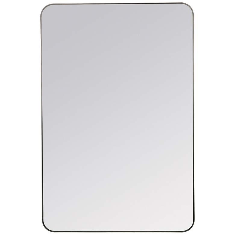 """Cooper Classics Sierra Matte Black 24"""" x 36"""" Wall Mirror"""