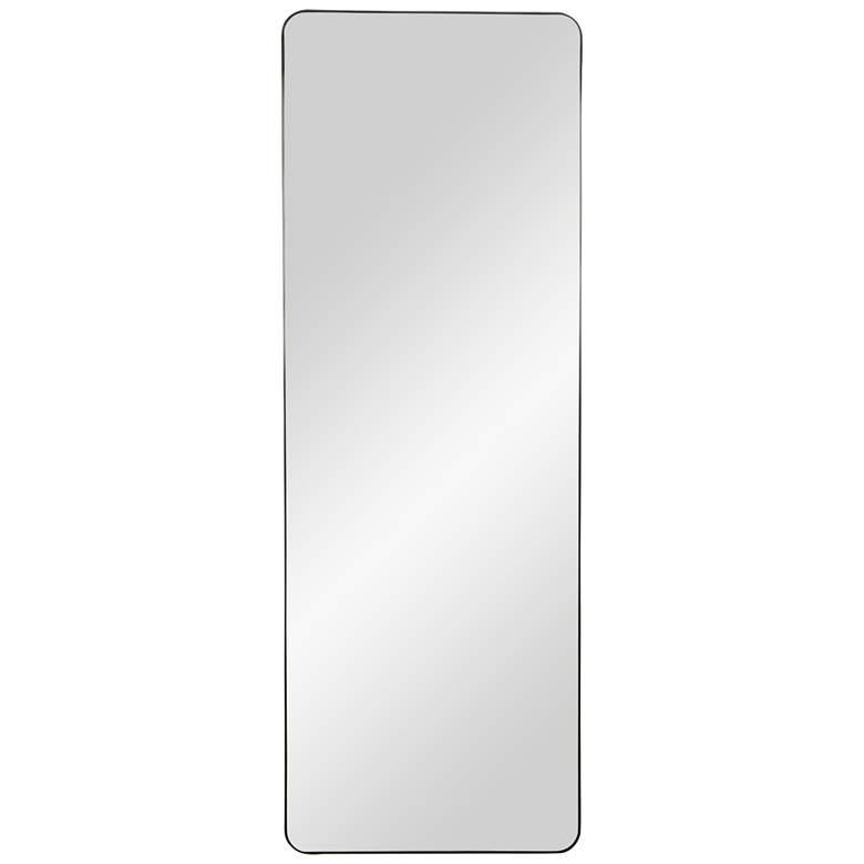 """Constantine Matte Black 24"""" x 68"""" Standing Floor Mirror"""