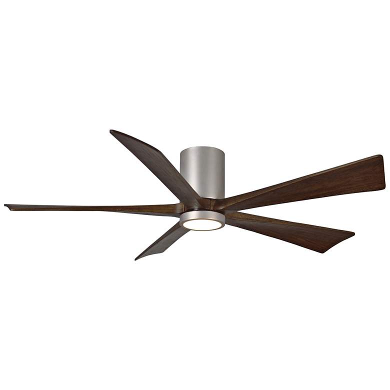 "60"" Matthews Irene-5HLK Nickel Hugger LED Ceiling Fan"