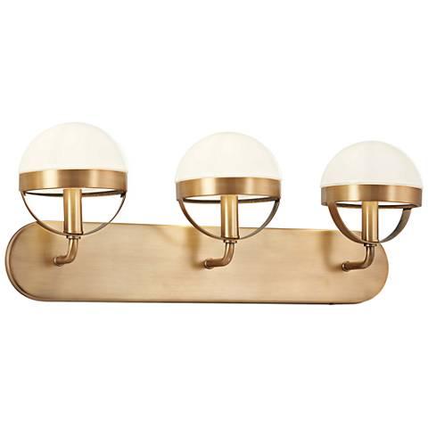 """Tannehill 24 1/4"""" Wide Aged Brass 3-Light Bath Light"""