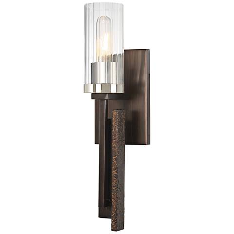 """Maddox Roe 18"""" High Iron Ore Wall Sconce"""