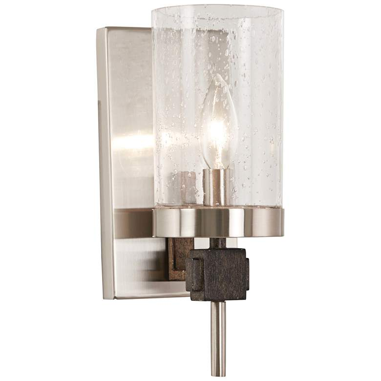 """Bridlewood 11 1/4"""" High Brushed Nickel Wall Sconce"""