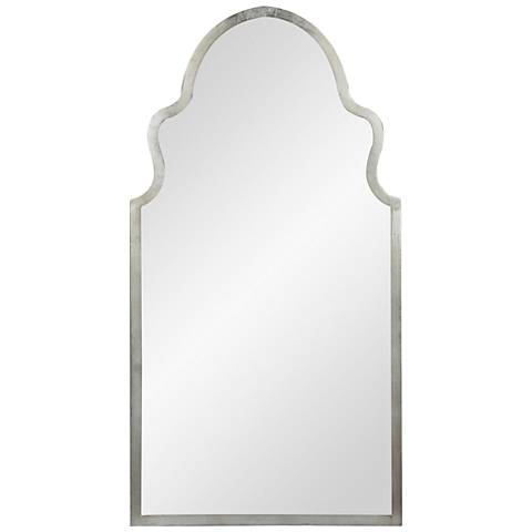 """Cooper Ingrid Silver 20"""" x 37 3/4"""" Arch Top Wall Mirror"""