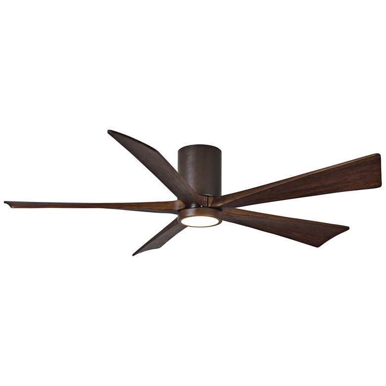"60"" Matthews Irene-5HLK Bronze Hugger LED Ceiling Fan"