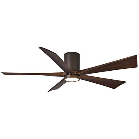 "60"" Matthews Irene-5H Textured Bronze Hugger LED Ceiling Fan"