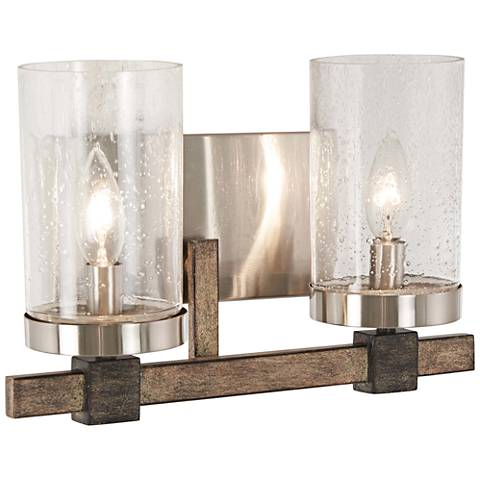 """Bridlewood 8 3/4"""" High Brushed Nickel 2-Light Wall Sconce"""