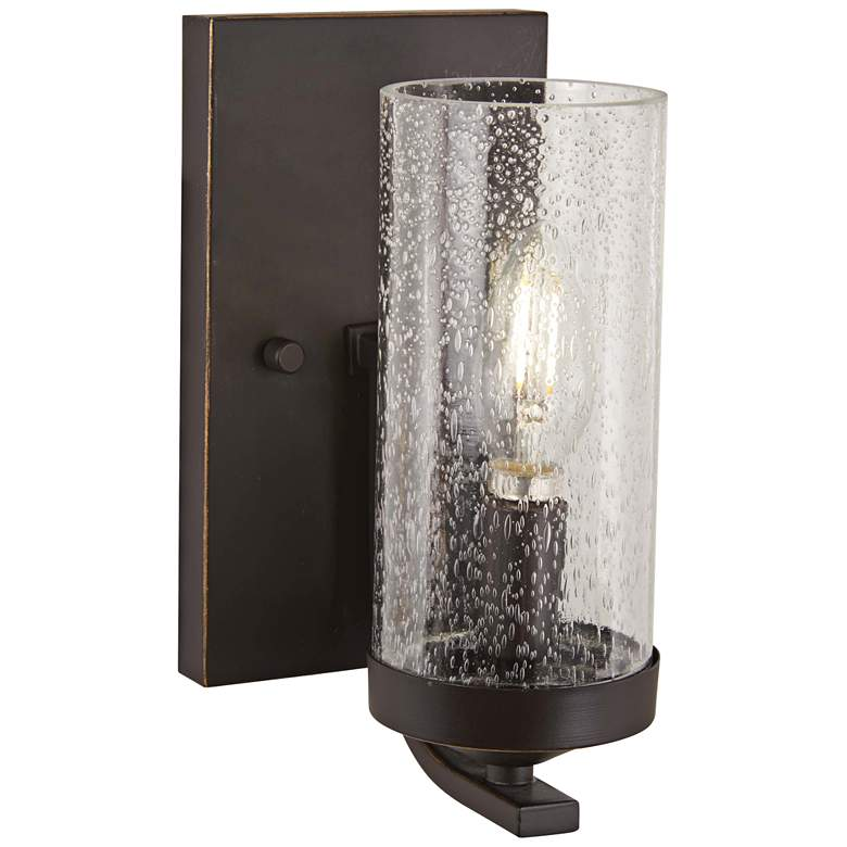 """Elyton 8 3/4"""" High Downtown Bronze Wall Sconce"""