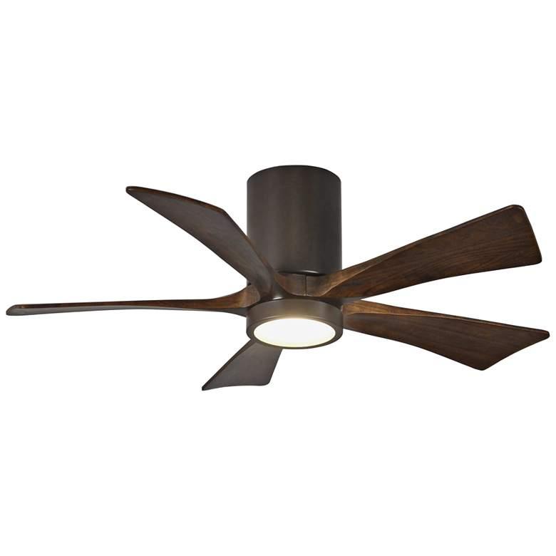 """42"""" Matthews Irene-5HLK Bronze Hugger LED Ceiling Fan"""