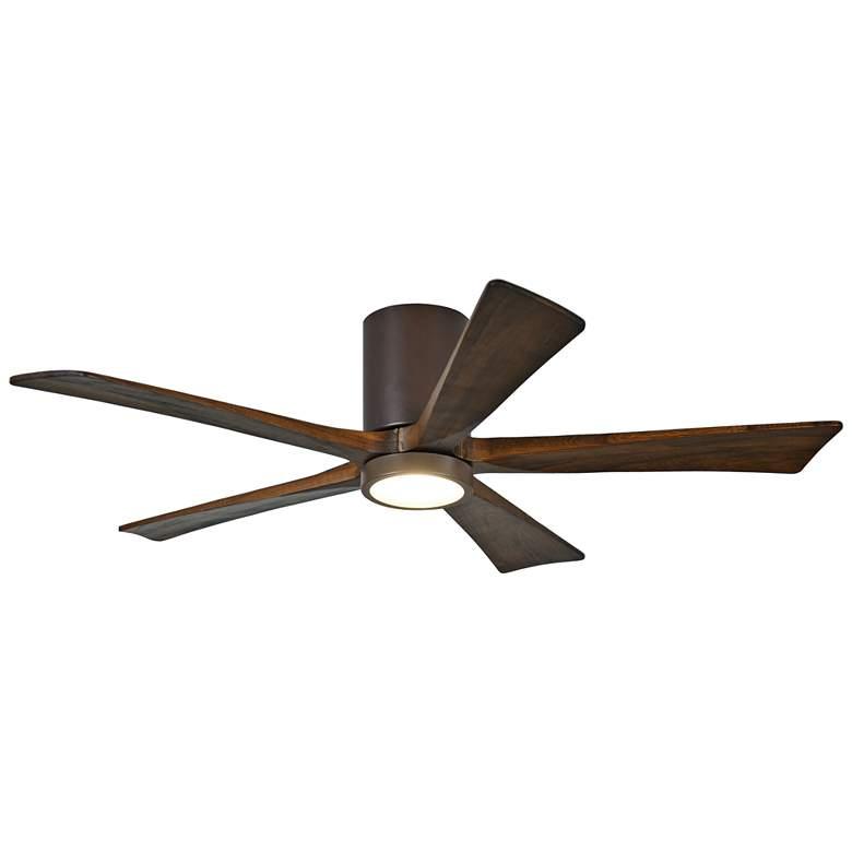 """52"""" Matthews Irene-5HLK Bronze Hugger LED Ceiling Fan"""