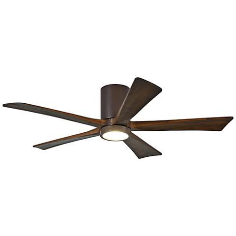 "52"" Matthews Irene-5H Textured Bronze Hugger LED Ceiling Fan"
