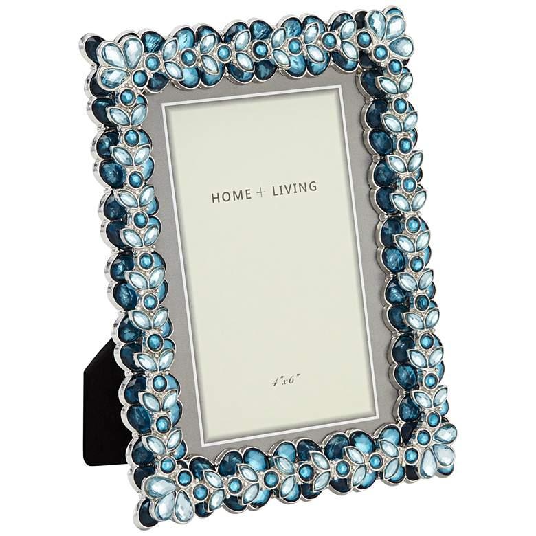 Modern Jeweled Blue 4x6 Photo Frame