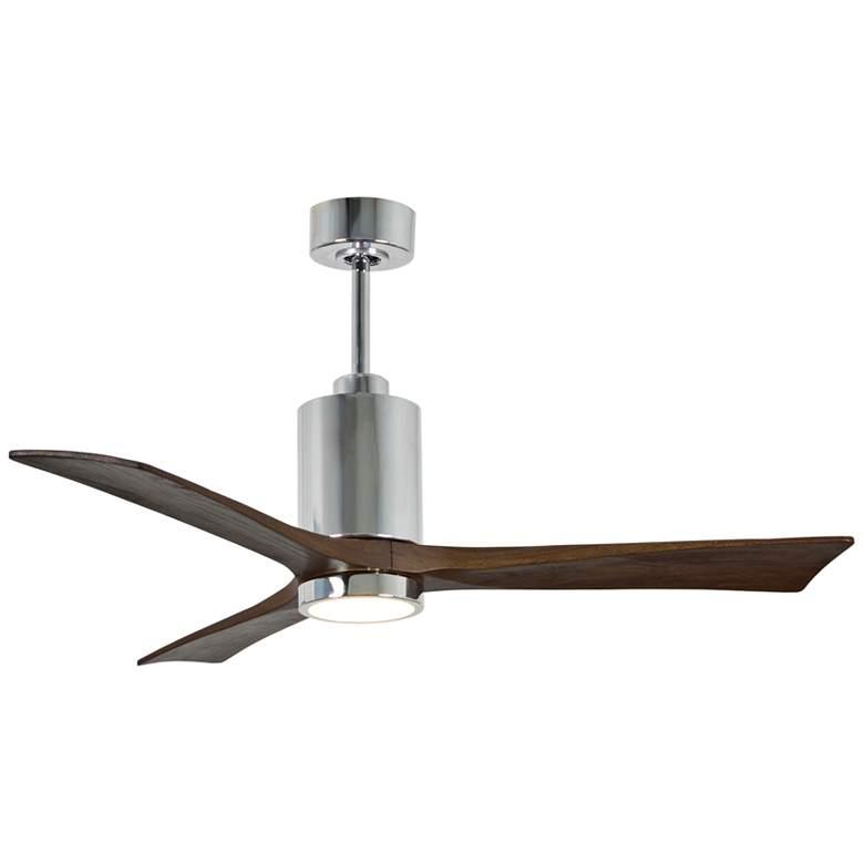 "52"" Matthews Patricia-3 Polished Chrome LED Ceiling Fan"