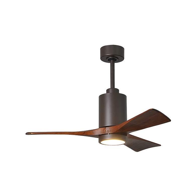 "42"" Matthews Patricia-3 Textured Bronze LED Ceiling Fan"
