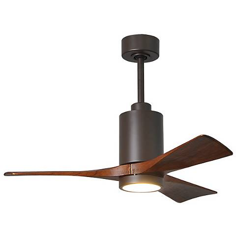 "42"" Matthews Patricia-3 Textured Bronze LED Ceiling Fan"