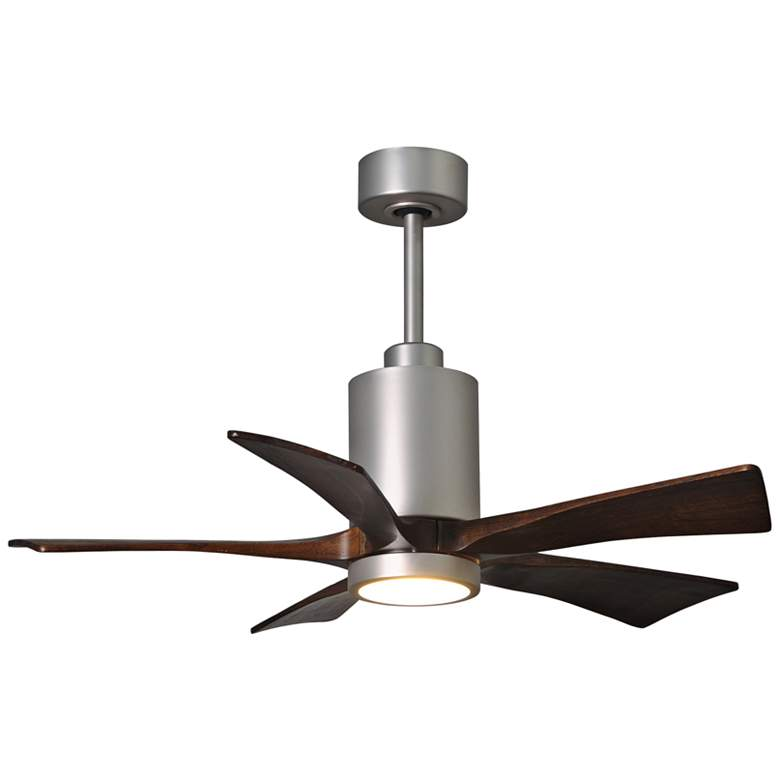 "42"" Matthews Patricia-5 Brushed Nickel LED Ceiling Fan"