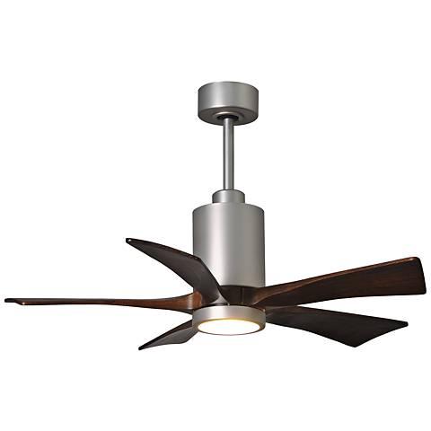 "42"" Matthews Patricia-5 Brushed Nickel LED Ceiling Fan"