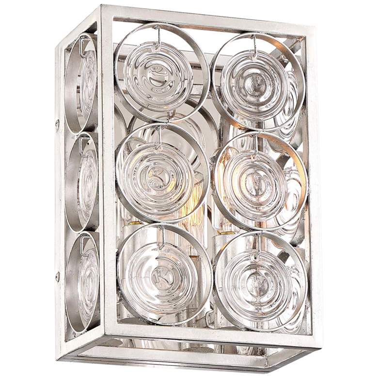 "Culture Chic 9 3/4"" High Catalina Silver Wall Sconce"