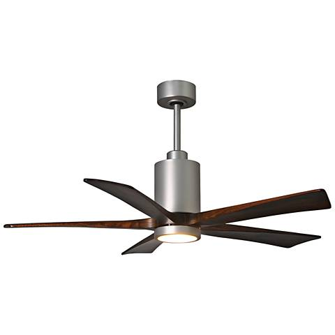 "52"" Matthews Patricia-5 Brushed Nickel LED Ceiling Fan"