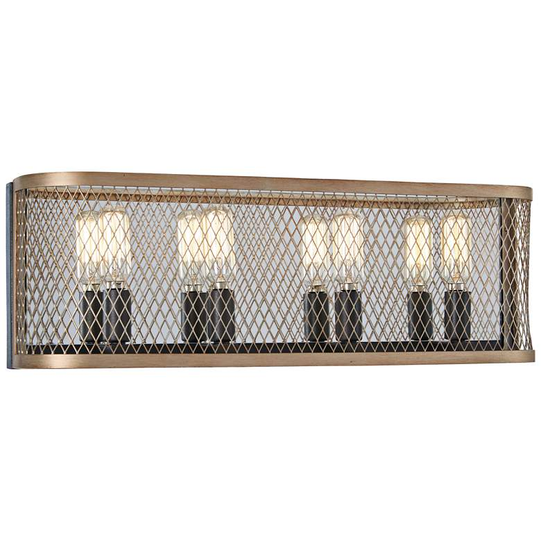 "Marsden Commons 19 3/4""W Iron and Gold 4-Light Bath Light"