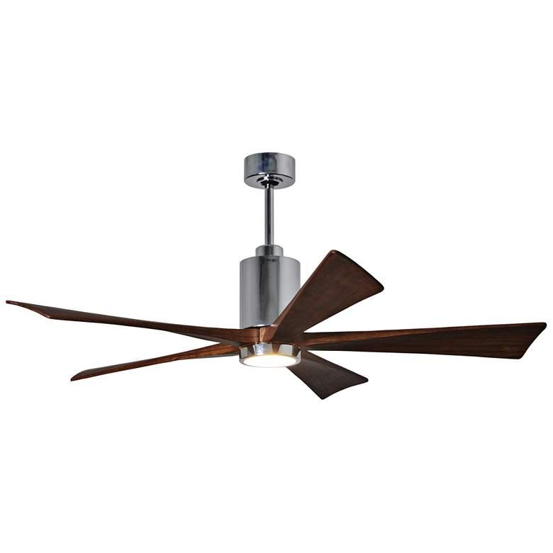 "60"" Matthews Patricia-5 Polished Chrome LED Ceiling Fan"