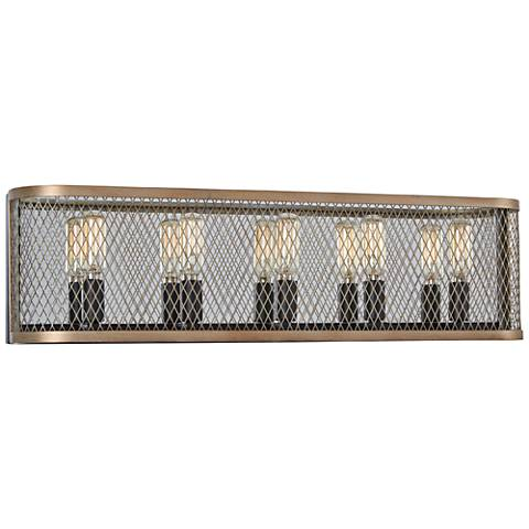 "Marsden Commons 24""W Smoked Iron and Gold 5-Light Bath Light"