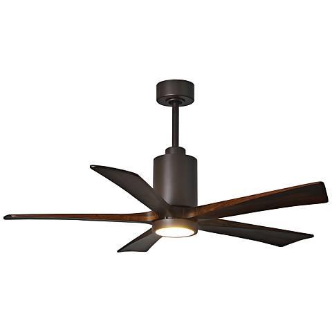 "60"" Matthews Patricia-5 Textured Bronze LED Ceiling Fan"