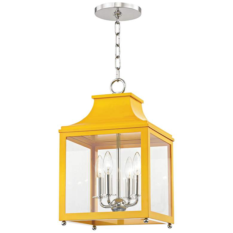 "Leigh 11 1/2"" Wide Nickel and Marigold 4-Light Mini Pendant"