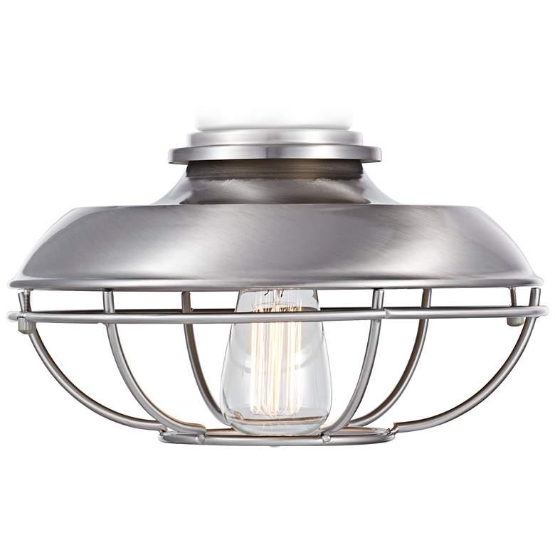 Franklin Park LED Brushed Nickel Damp Ceiling Fan