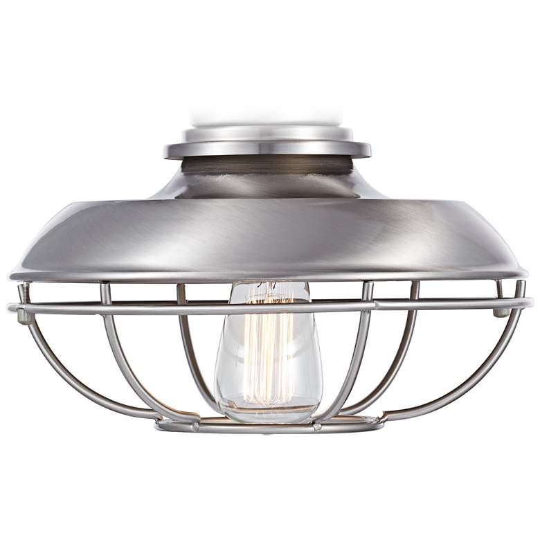 Franklin Park LED  Brushed Nickel Damp Ceiling Fan Light Kit
