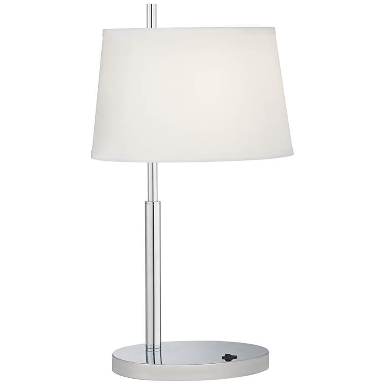 47J97 - Single Nightstand Table Lamp in Chrome Finish