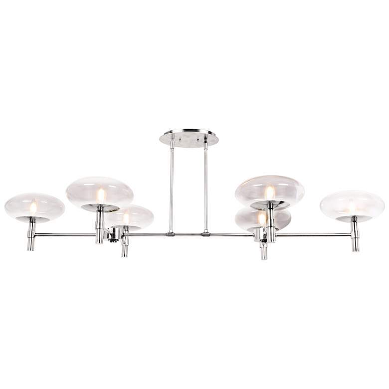 "Grand 56 1/4"" Wide Steel LED Kitchen Island"