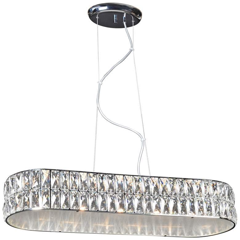 "Magari 26 1/4"" Wide Chrome LED Kitchen Island Light Pendant"