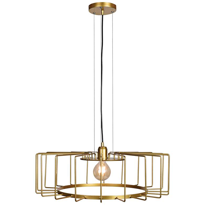 """Wired 23 1/4"""" Wide Gold LED Pendant Light"""