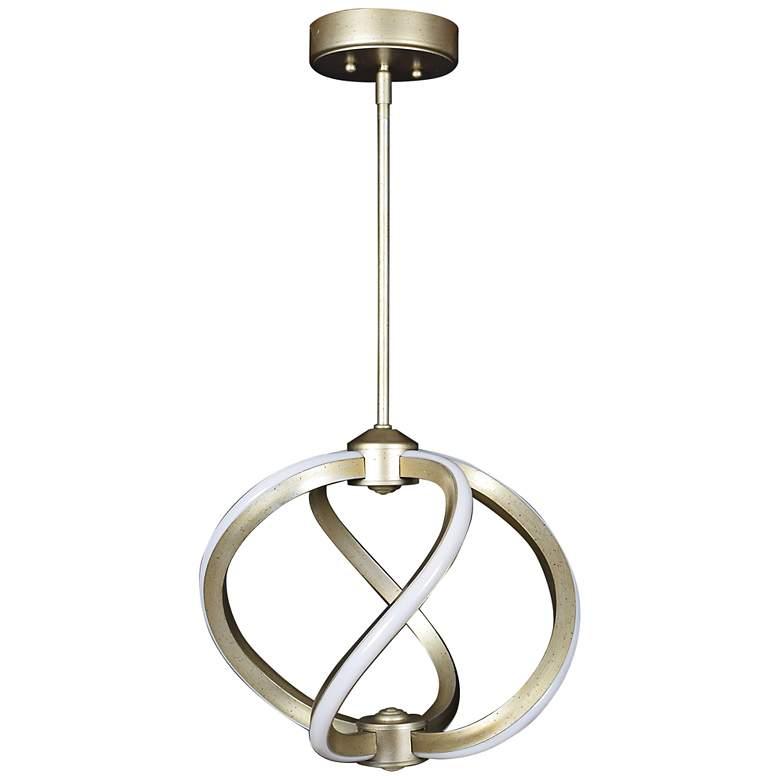 "Vortex 14"" Wide Inspired Gold LED Pendant Light"