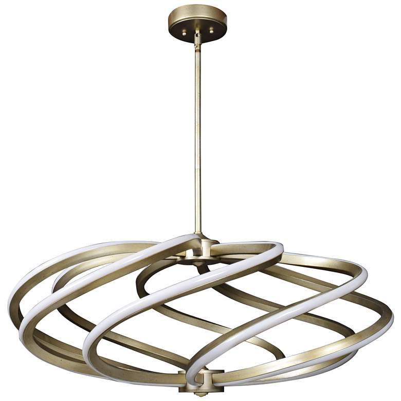"Vortex 33 1/4"" Wide Inspired Gold LED Pendant Light"