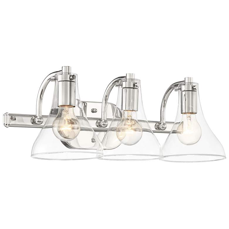 "Possini Euro Sorren 20 1/2"" Wide Nickel 3-Light Bath Light"
