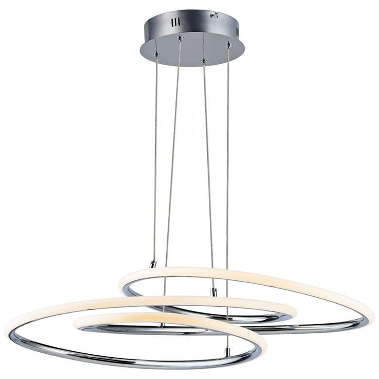 "ET2 Coaster 20 1/4"" Wide Polished Chrome Modern LED Pendant"