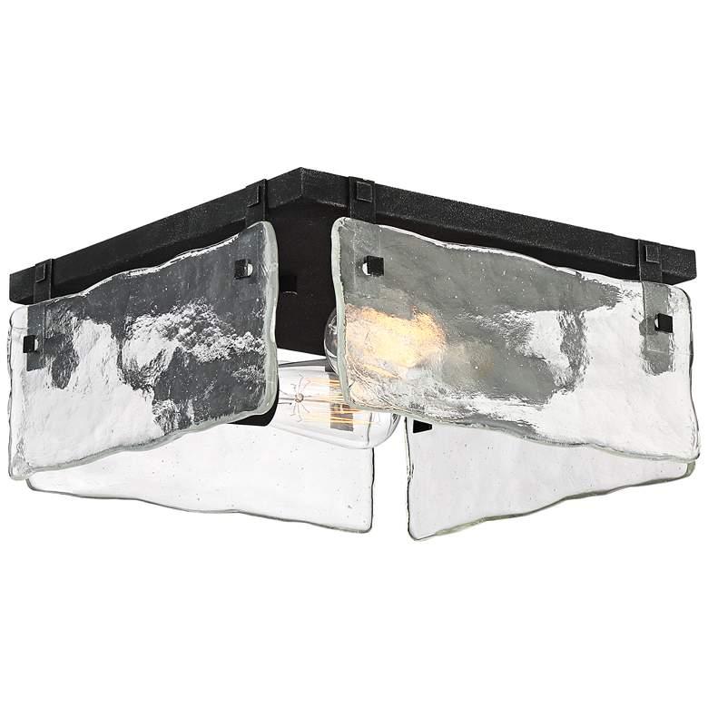 """Cassington 11 3/4"""" Wide Glass Square 2-Light Ceiling Light"""