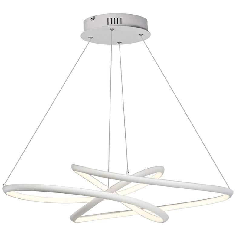 "ET2 Twisted 26 1/4"" Wide Matte White LED Pendant Light"