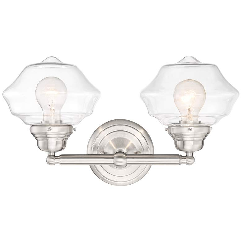 "Possini Euro Astrid 10 1/4""H Brushed Nickel 2-Light Sconce"