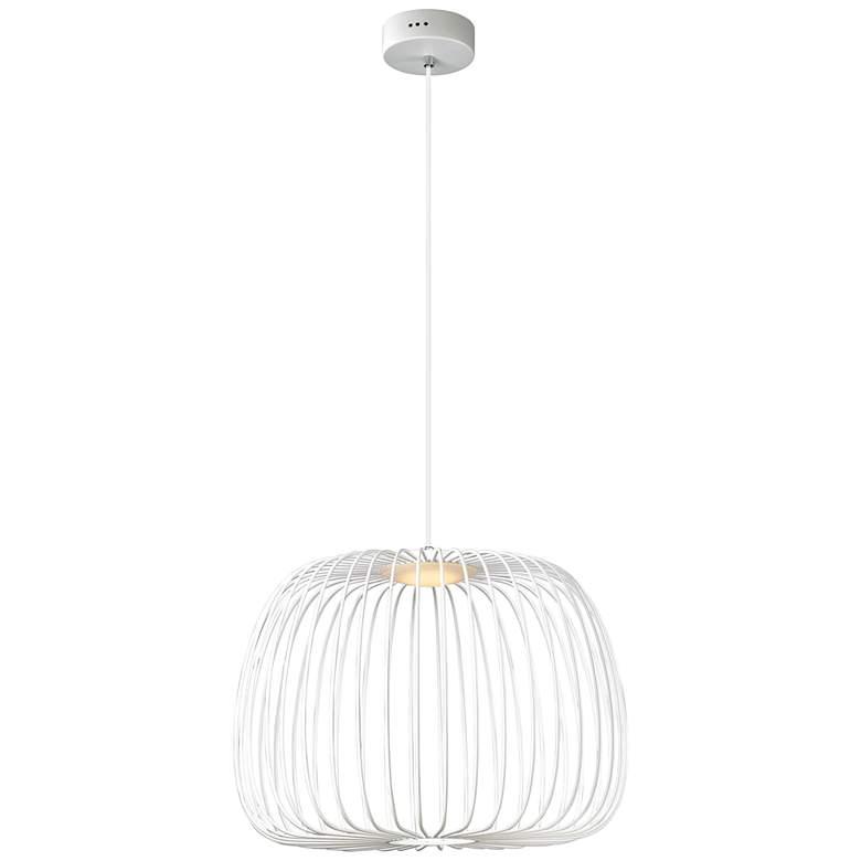 "ET2 Cage 19 3/4"" Wide White LED Pendant Light"