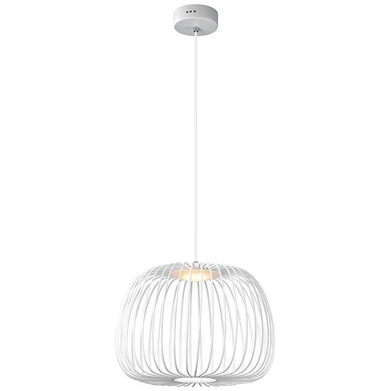 "ET2 Cage 15 3/4"" Wide White LED Pendant Light"