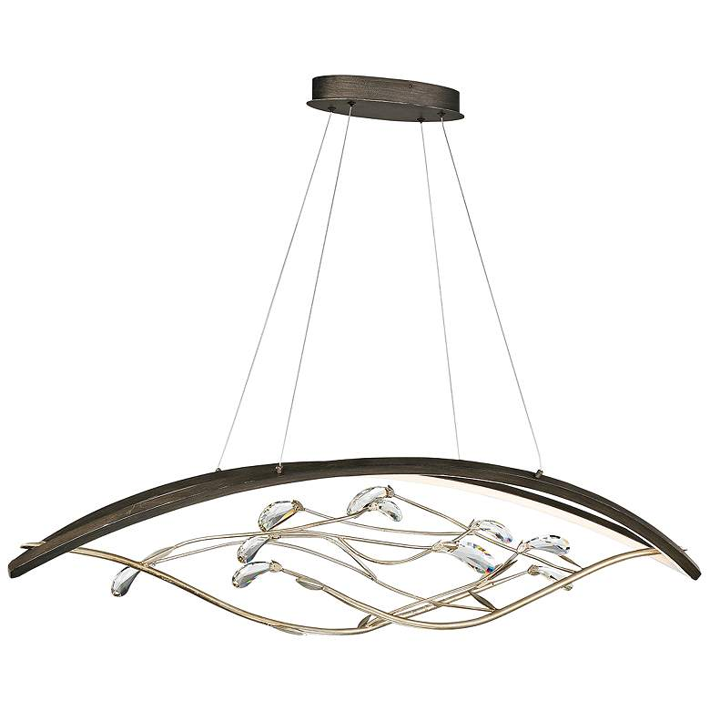 "Basilica 47 1/4"" Wide Bronze 2-Light LED Island Chandelier"