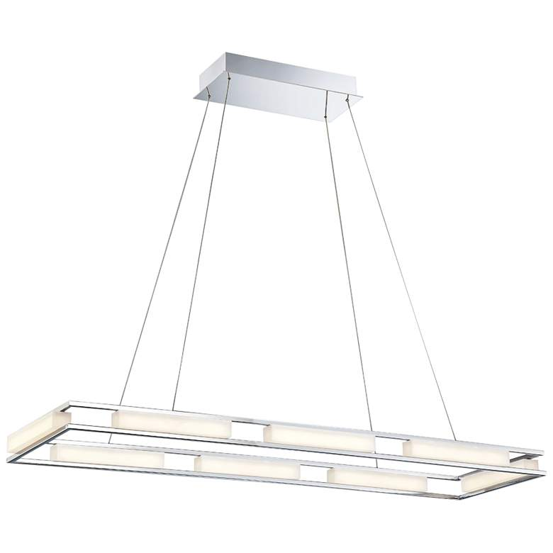 "Eurofase Fanton 40 1/2""W Chrome 8-Light LED Pendant"