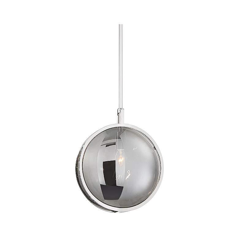 "Eurofase Havendale 9 3/4"" Wide Nickel Sphere Mini Pendant"